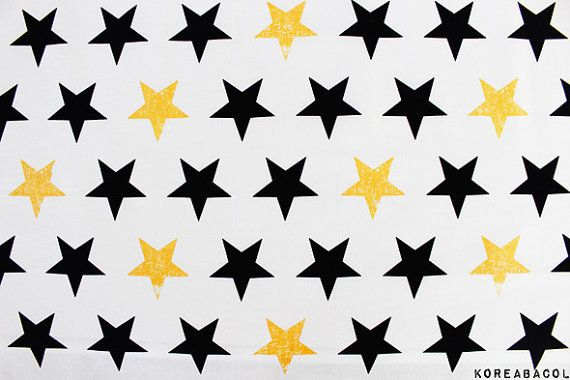 Skandinavische Stoff Sterne Stoff 43 x 35 100 % von KoreaBacol