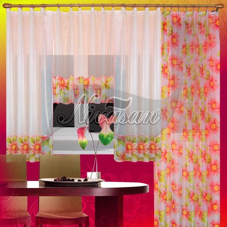 """Кухонные шторы из ткани """"Барбарис"""""""