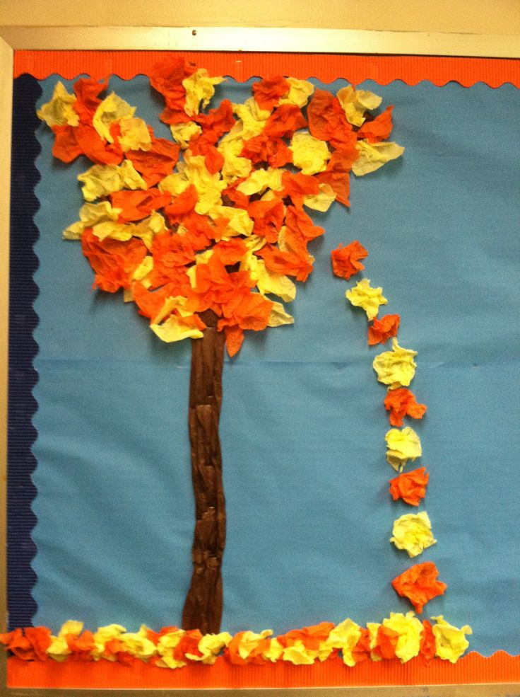 "Tissue Paper Tree - add ""leaf letters"" and build a tree"