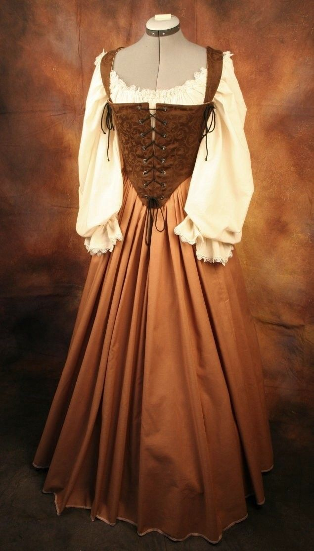 Renaissance Wench Bodice Corset Gown Dress by thewencheswardrobe