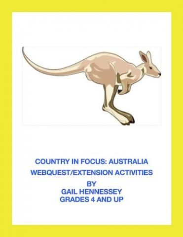Want to introduce your students to different countries of the world? My Country in Focus series, highlights a country with a webquest, mapskill activity, fun facts and extension activities. Great for a one day activity before a vacation, enrichment, internet research skills or for a substitute activity. http://edworldexchange.com/?q=product/australia-world-focuswebquestextensions/59119856#sthash.rR5a6uJs.dpuf  $3.00  Grades 4 and up.
