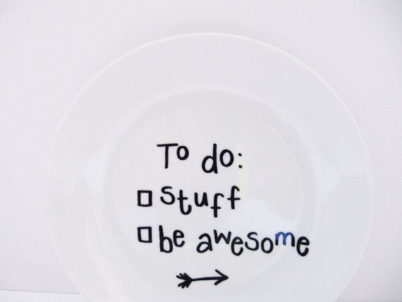 To Do Stuff Be Awesome Hand-Decorated Small by LilyLovesShopping