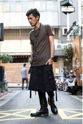 Men's skirt.