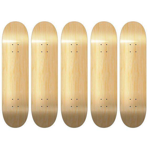 5 Blank Skateboard Decks Natural With Black Grip Tape Best Deal