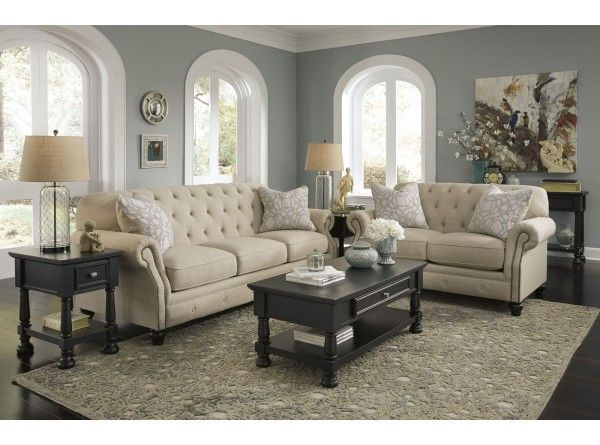 Kieran Natural Sofa Loveseat By Signature Design Ashley Get Your At Furniture Country Gainesville Fl