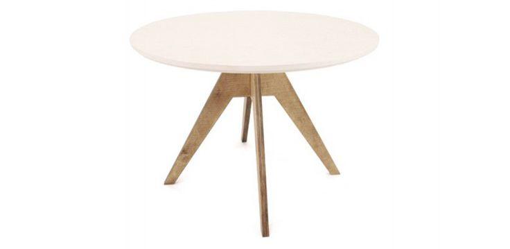 Table De Repas Ronde Design Fjord 105 cm Pied Teinté Noyer - Meuble Sodezign - principale