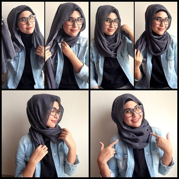 Hijab style for girls with glasses!