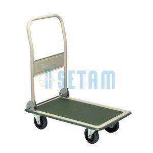 setam – Chariot pliable L.915 charge 300 kg: Price:108 Chariot Roulpratic force 300 kg. Plateforme anti-dérapante et ceinture PVC. 2 roues…
