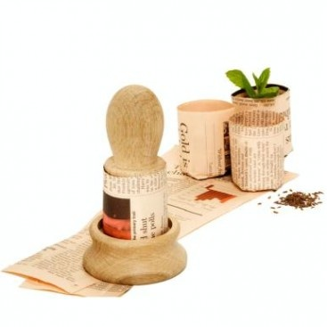 With This Item, You Can Make Seed Pots From Old Newspaper. The Pots Are  Biodegradable, Just Make Sure That The Newspaper Ink Is Soy Based.