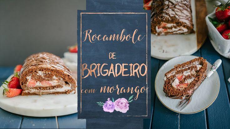 ROCAMBOLE DE BRIGADEIRO COM MORANGOS - YouTube