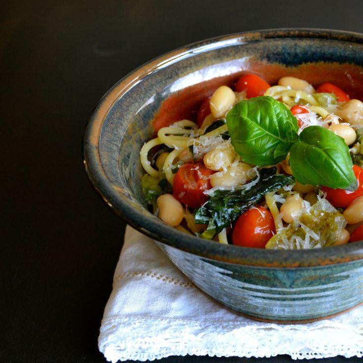 Spaghetti con Scarola Fagiolo Bianco & Tomato ~ Food Blogger contro la fame | amore gusto e nutrire