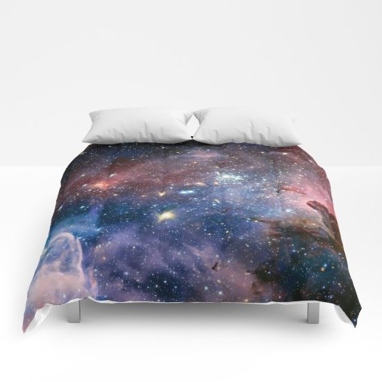 """""""Stardust"""" Galaxy Bed Comforter. Society6"""
