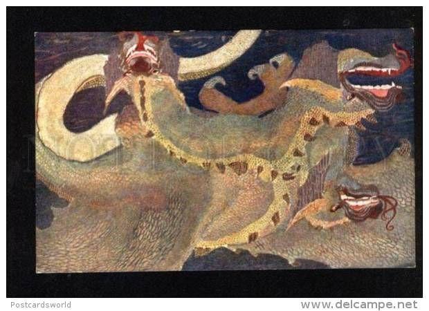 049629 Fairy Dragon By ROMANOVSKY Russia ART NOUVEAU - Illustrators & Photographers
