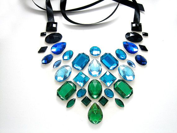 EyeCatching Black Aqua and Green Floating by SparkleBeastDesign, $27.99