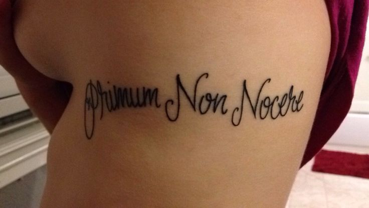 """Primum Non Nocere"" 