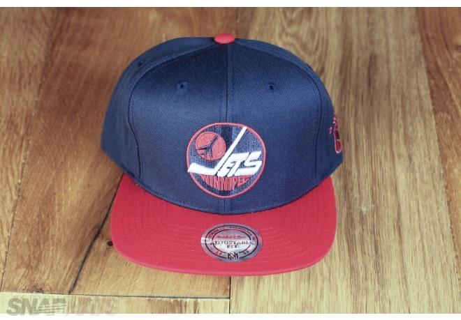 Winnipeg Jets Navy Classic Logo Mitchell Ness Snapback Hat