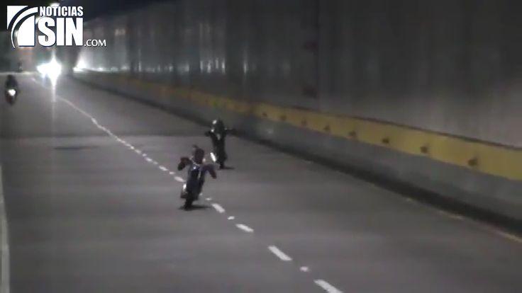 Continúan carreras clandestinas en túnel de Las Américas