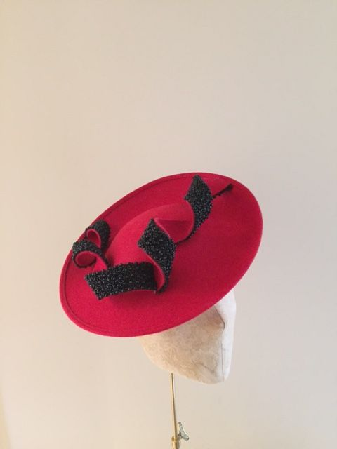 10d1f06e Moon Dish Hat in red with black bead Hostie Hats | Hats | Hats ...