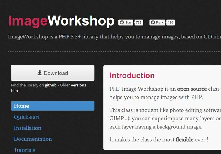 PHP Image Workshop is an open source class using GD library that helps you to manage images with PHP. It requires PHP version 5.3+ and it's thought like photo editing software (Photoshop, GIMP etc): you can superimpose many layers or even layer groups, each layer having a background image. This makes it very flexible. This library […]