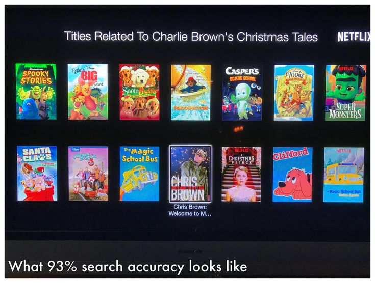 Netflix search now over 90%.