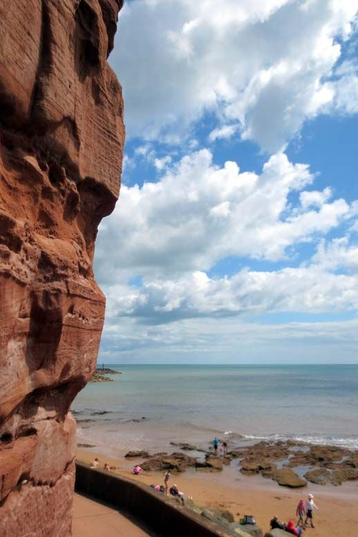 Weather worn red cliffs at Sidmouth | South Devon | England