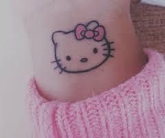 Little hello kitty tattoo!                                                                                                                                                                                 More