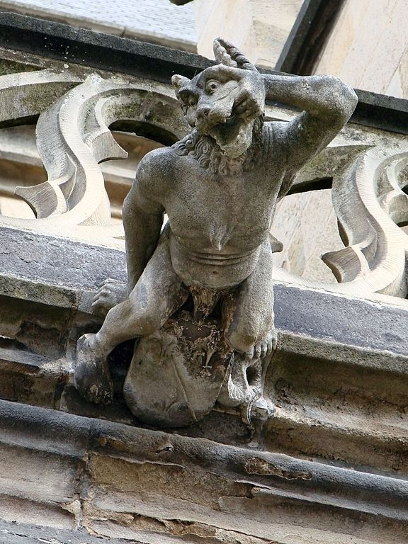Many statues (gargoyles) depicting werewolves are still around,,,