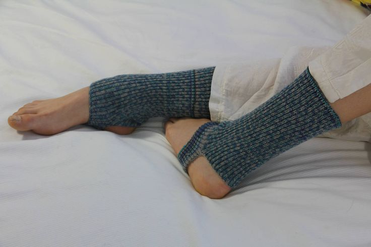 Yoga/Dancer's legwarmers - hand cranked and finished - BLUE AND TURQIOUSE  super wool  stirrup Short socks with open heel one size fits all by footfetishsocks on Etsy