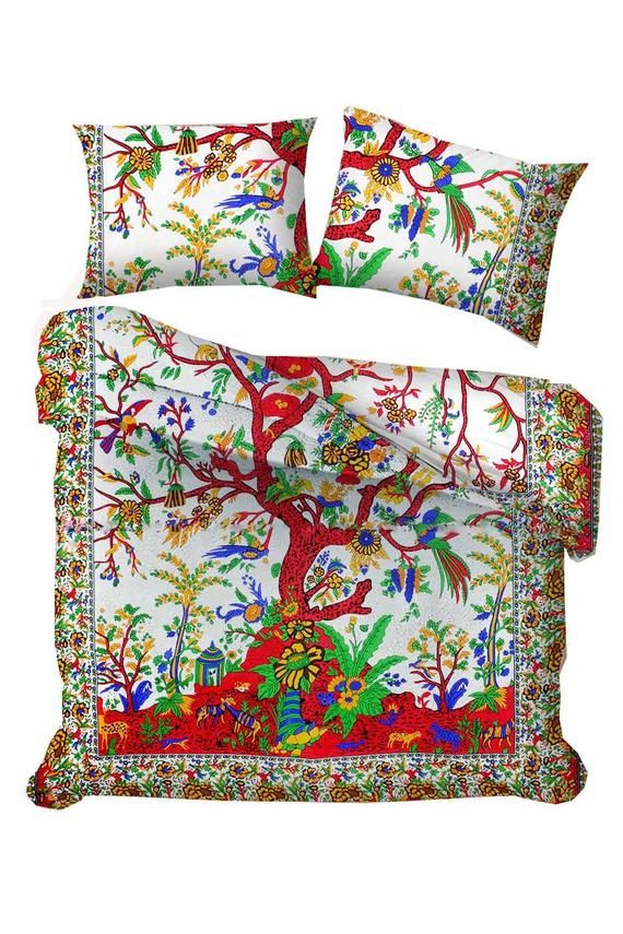 Handmade Indian Bedding Blanket Cotton Duvet Cover Hippie Etsy In 2021 Mandala Duvet Cover Duvet Covers Cotton Duvet