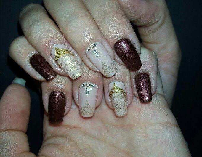 #autumn #nailart #kasmere #brown #gold