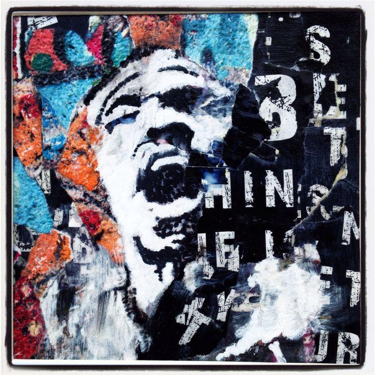 Oct 16  Collage et technique mixte Hendrix