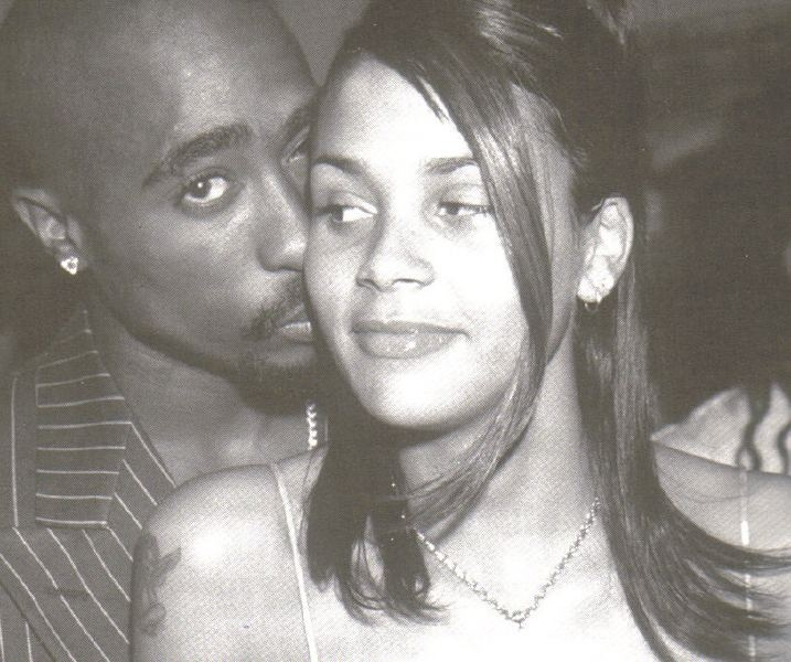 .    Born: March 22nd 1974 ~ Kidada Ann Jones is an American actress, model and fashion designer, who is best known for her work as a designer for The Walt Disney Company, where she has a line known as Kidada for Disney Couture.......  Parents: Quincy Jones, Peggy Lipton........(Seen here with her fiancé Tupac Shakur)