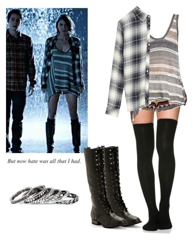 """5x01 x Malia Tate - tw / teen wolf"" by shadyannon ❤ liked on Polyvore featuring MANGO, Free People, Rails and Pieces"