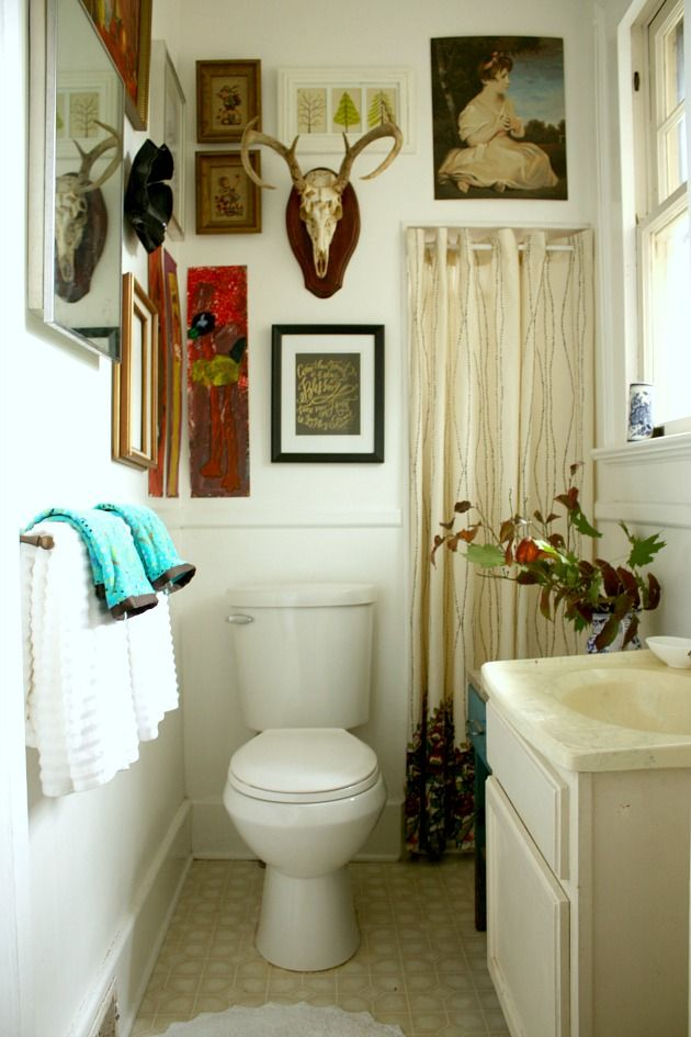 What a fantastic bathroom! Cooler than any room in my house, sadly.