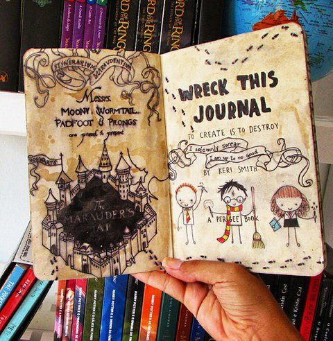 Activité : Wreck this Journal / Saccage ce carnet - version Harry Potter - 2