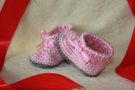 Shoes Crochet Baby Boots Baby Girl Hand by ButterflyStitches16