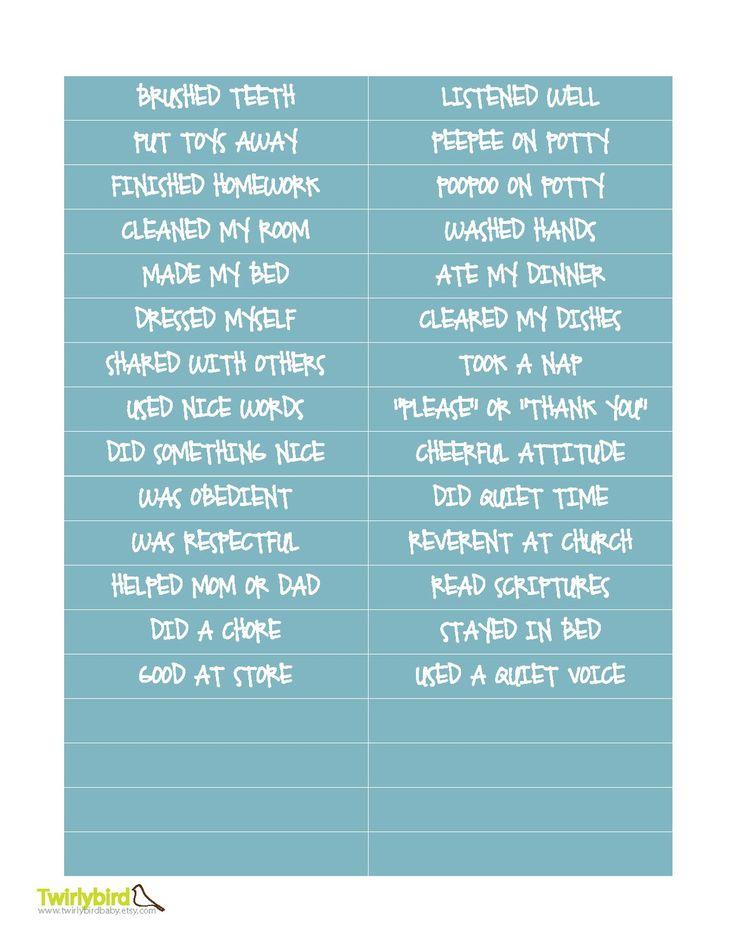 Best 25+ Behavior sticker chart ideas on Pinterest Potty - blank sticker chart