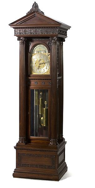 U003ciu003eWaltham/Durfeeu003c/iu003e Mahogany Tall Case Clock, Clock U0026 Watch Auction, April