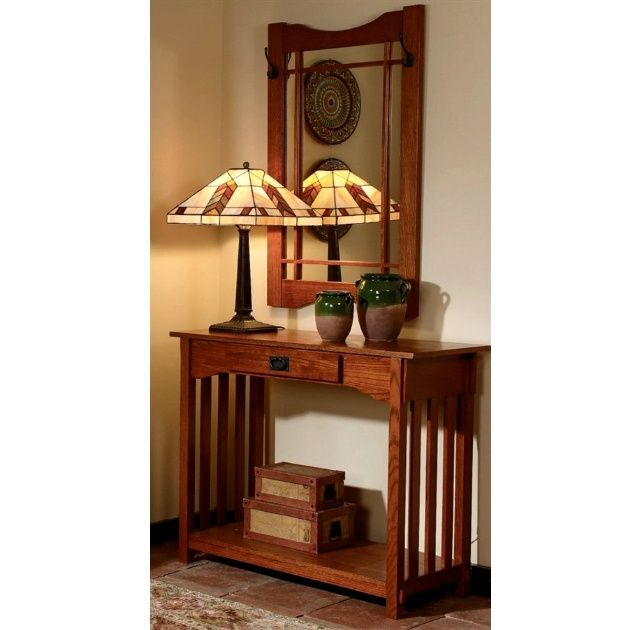 Mission Craftsman Oak Console Entry Table Mirror Style Interiors Pinterest Furniture And