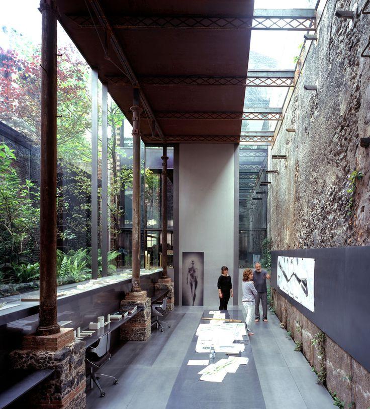 Rehabilitation of a factory into RCR Arquitectes' studio.