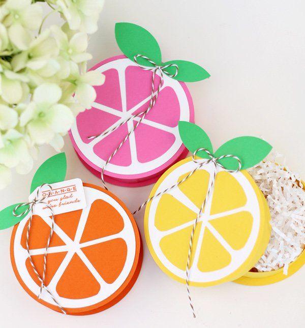 DIY Summery Citrus Treat Boxes