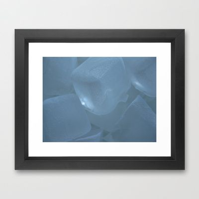 Ice cubicles Framed Art Print by munziart - $32.00