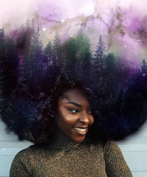 cool This Artist Paints The Universe In The Natural Hair Of Black Women  - Black Hair Information
