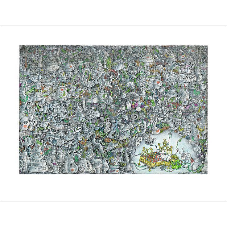 """Love Machine"" Exclusive Original Limited Edition Fine Art Print available from www.mordilloart.com"