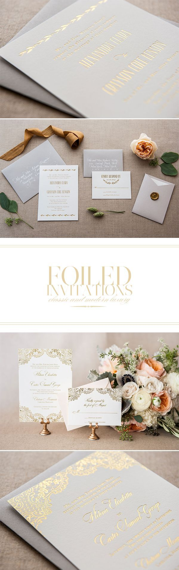 elegant wedding invites coupon codes%0A Foiled wedding Invitations on Once Wed