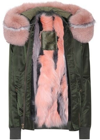 Mr & Mrs Italy Fur-trimmed bomber jacket  #womensfashion #winterfashion #winter2017 #fashion #fashion2017 #wintercoat #parka #fakefur