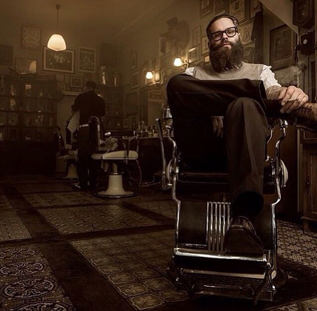 Great photo of the barber shop