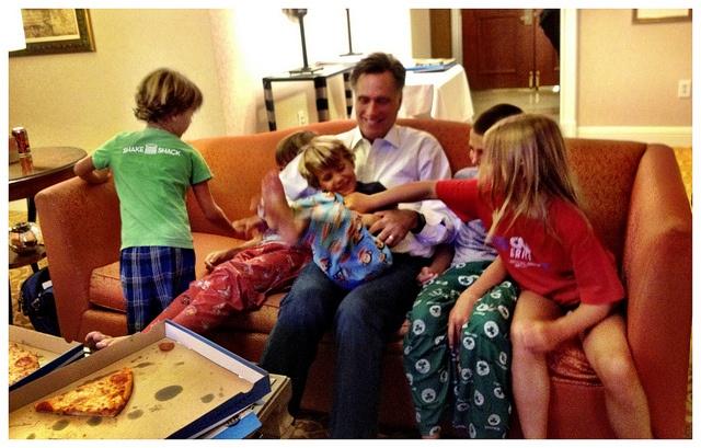 Mitt and the grandkids