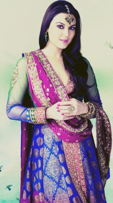 preity zinta. unknown designer.