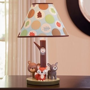 Carter S Forest Friends Nursery Lamp Base And Shade Set
